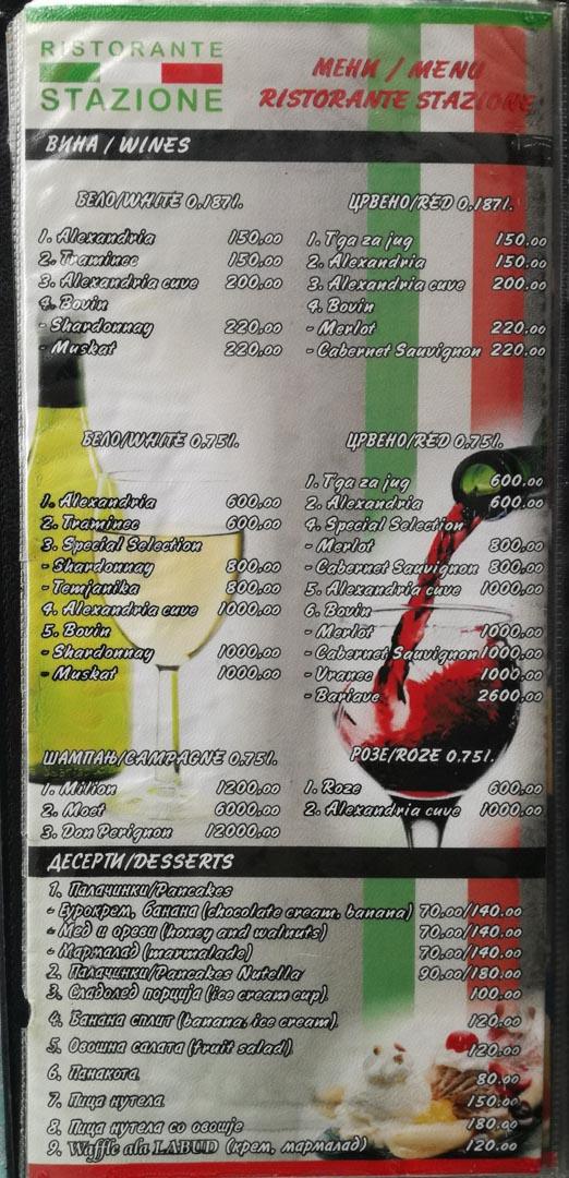 Wine & Desserts