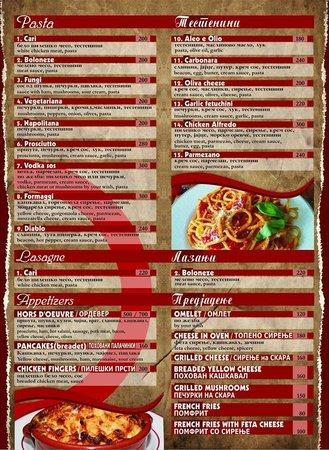 Pasta & Appetizers